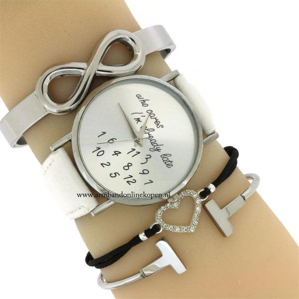 infinity armband bangle edelstaal hippe horloge