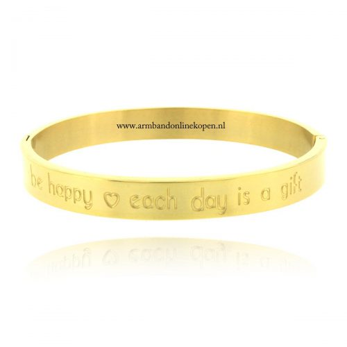 inspirerende quote armband be happy each day is a gift