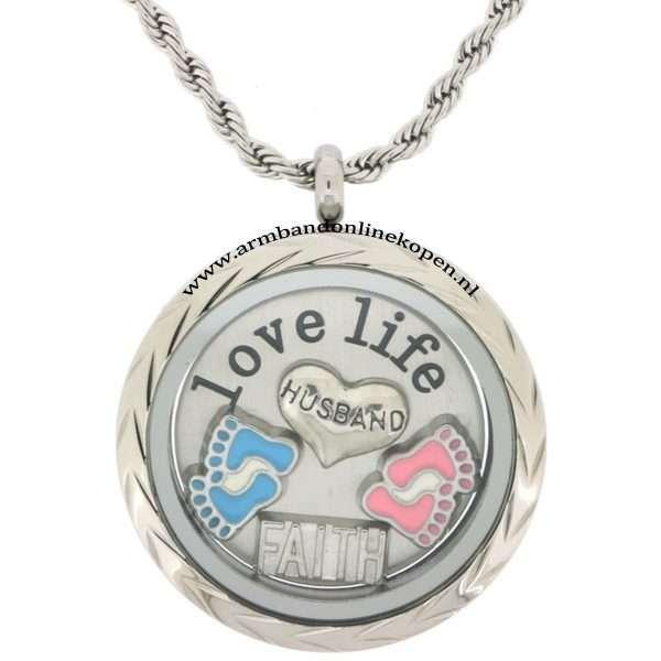 munt ketting 2016 rvs munt hanger met munt en liefde voor je zoon dochter