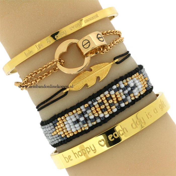 quote armbanden veer love bangles