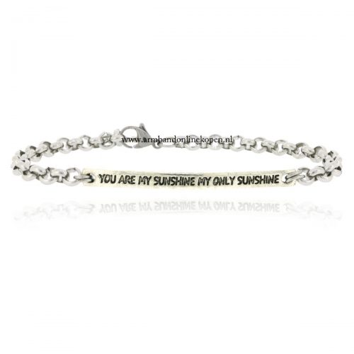 quote armbandje you are my sunshine