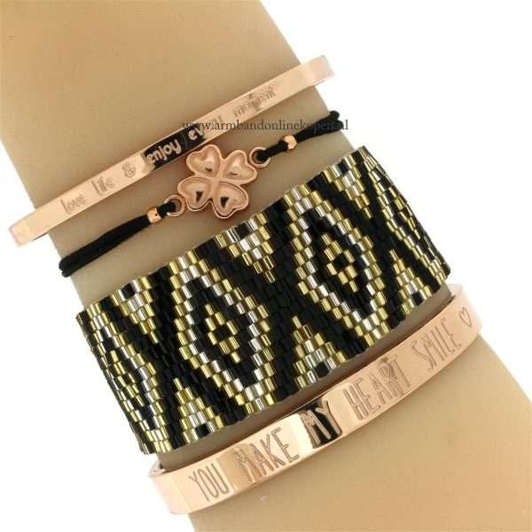 rose goud armcandy armbandjes