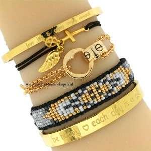 subtiele armbandje geloof in jouw beschermengel goud