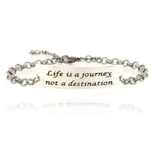 Life is a Journey Not a Destination schakels armbandje
