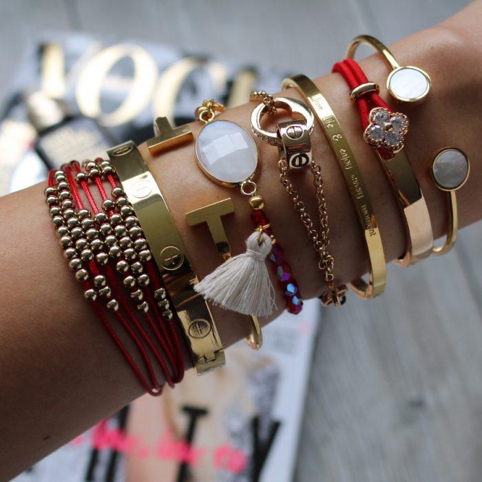 armband goud kraaltjes stylish armcandy