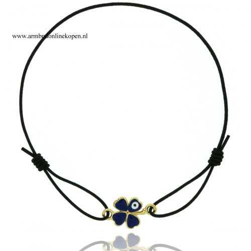 armband-klaver-vier-boze-oog-marineblauw-goud