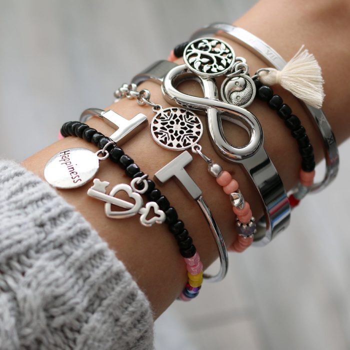 armband love is the key to happiness zilver armcandy