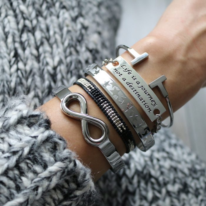 armband quote life is a journey not a destination schakels