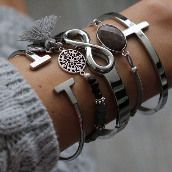 armbanden staal infinity bangles barok bandje