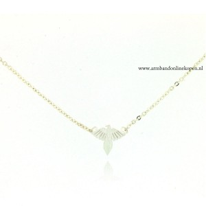 armbandje phoenix vleugel zilver