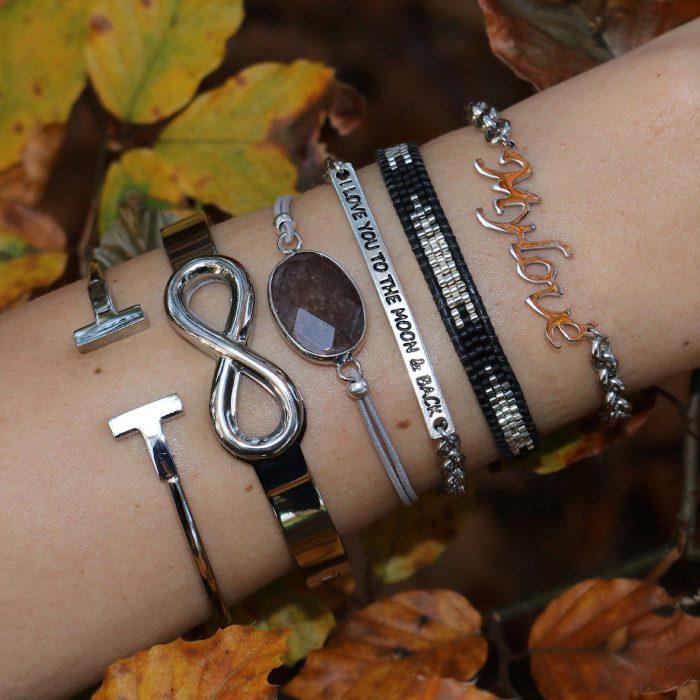 hippe armband eldesteen facet steen zilver armcandy