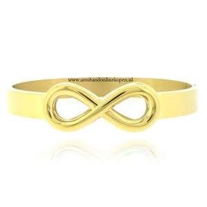 infinity armband edelstaal bangle goud