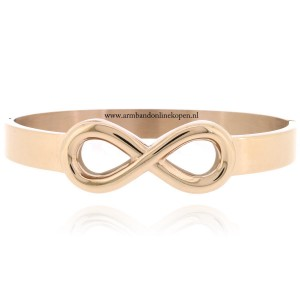 infinity armband edelstaal bangle rose goud