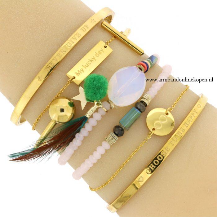 infinity armbandje goud rvs goedkoop kopen