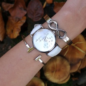 infinity bangle armbanden cuff horloge kopen
