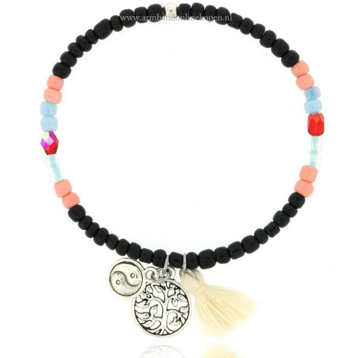 kralen armband levensboom yin yang