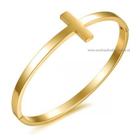 kruis-bangle-believe-in-yourself-goud-rvs