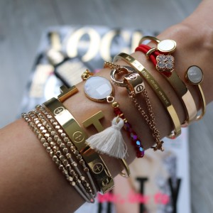 love quote armbanden goud rood