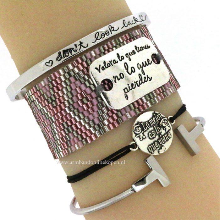 quote armband miyuki kralen