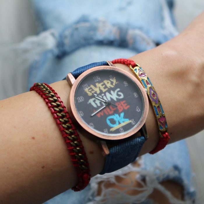 quote horloge aztec armbandje schakels