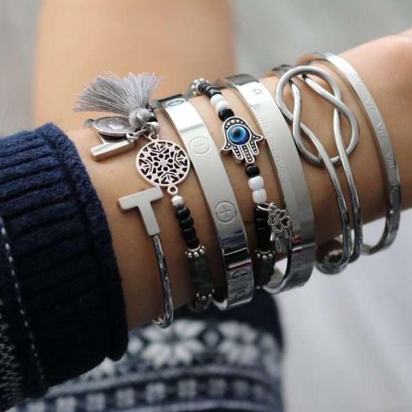 quote love bangles armbanden zilver armcandy