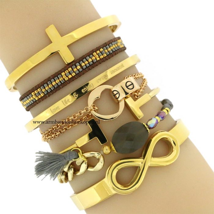quote stalen armbanden goud armcandy