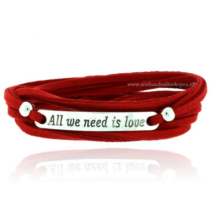 quote wikkel armband all we need is love