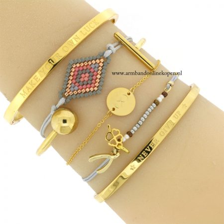 rvs armbandje infinity symbool goud