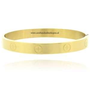 stalen armbanden inspirerende Cartier collectie goud
