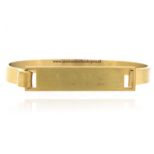 stalen armbanden love goud