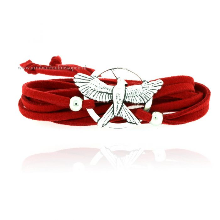 wikkel armband hunger games mockingjay
