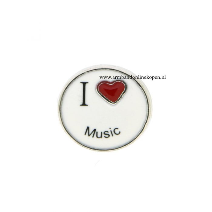 I love music bedel voor munt hanger