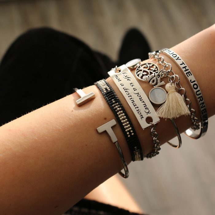 Quote armband life is a journey not a destination musthave