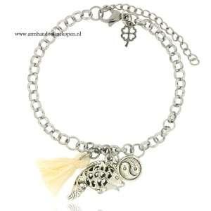 armband angel fish yin yang bedel