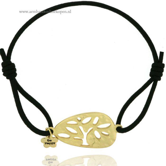 armband-levensboom-goud-zwart-tree-of-life-bracelet