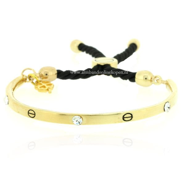 armband love bangle strass steentjes