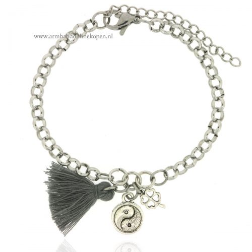 Yin and Yang Chain Bracelet