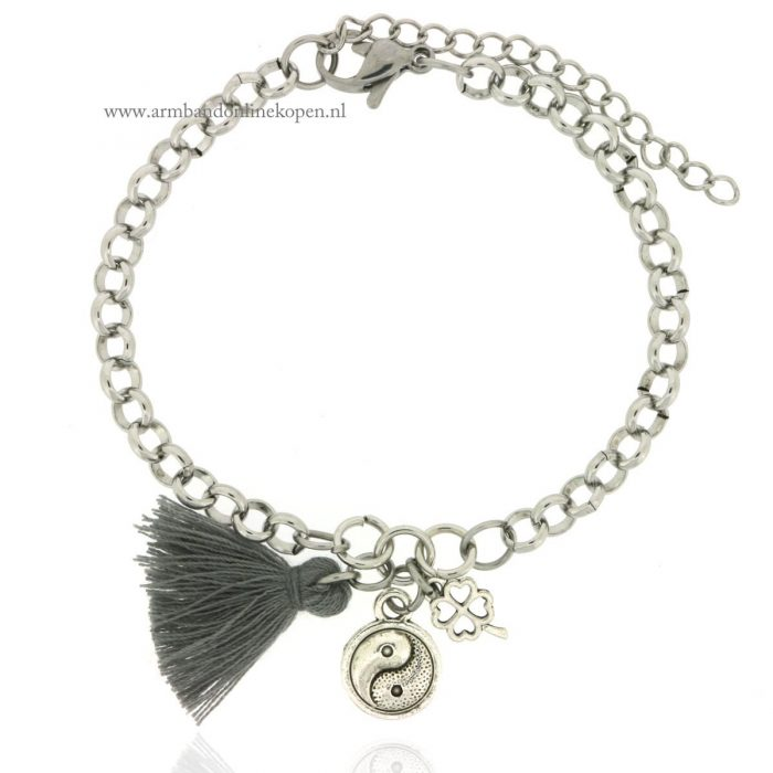 Yin and Yang Chain Bracelet