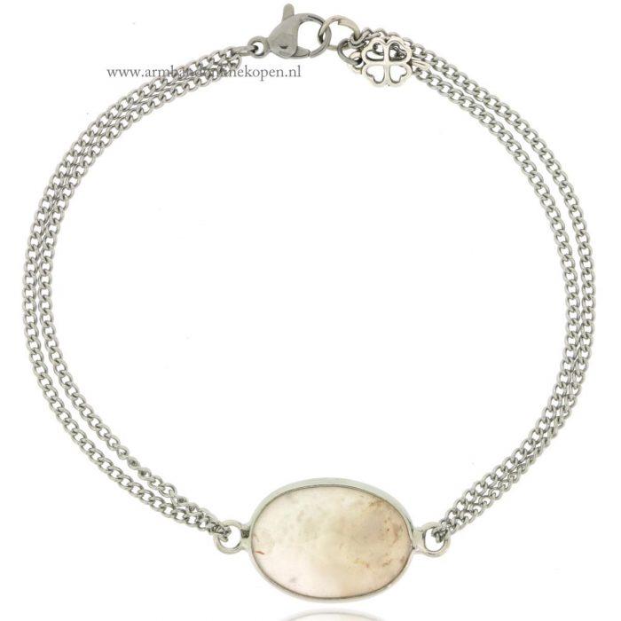 fijne armband stone opal zilver