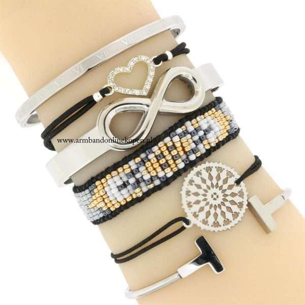 hippe trendy stalen armbandjes armcandy