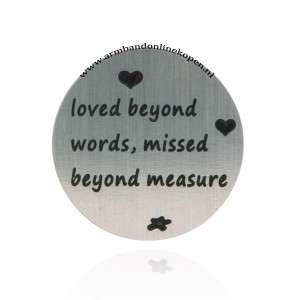 rvs munt loved beyond words missed beyond measure