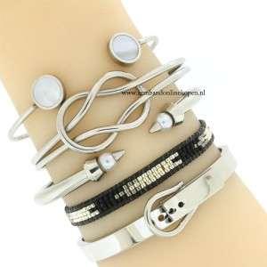 stalen infinity cuff armband armcandy armband