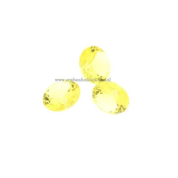 Steen Maisgeel voor munt hanger of armband