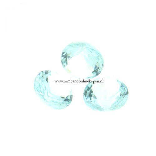 Steen voor munt hanger of armband aqua mint