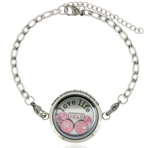 armband met munt love life cause life is precious