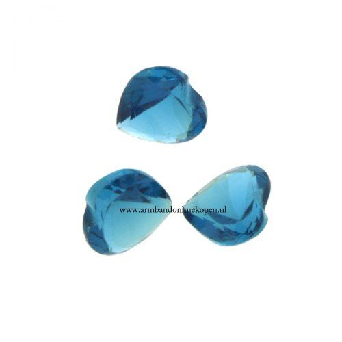 hart steen voor munt hanger of armband petrol blauw
