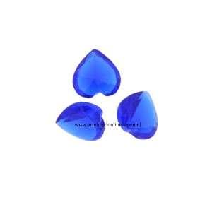 hart steen voor munt hanger of armband royal blauw