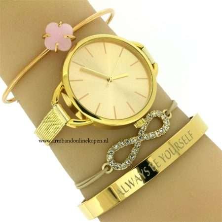 infinity-armband-taupe-goud-goedkoop-kopen