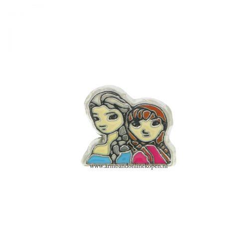 Anna en Elsa bedel voor armband of hanger