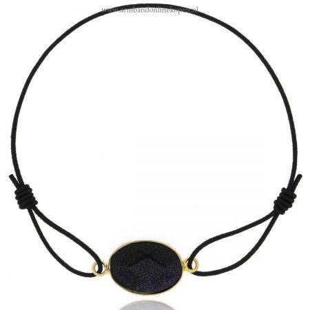 armbanden 2016 met steen zwart elastiek